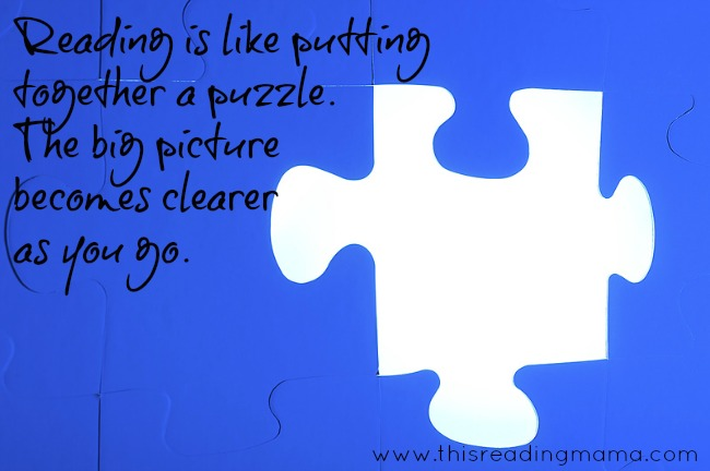 Reading is Like Putting Together a Puzzle | This Reading Mama