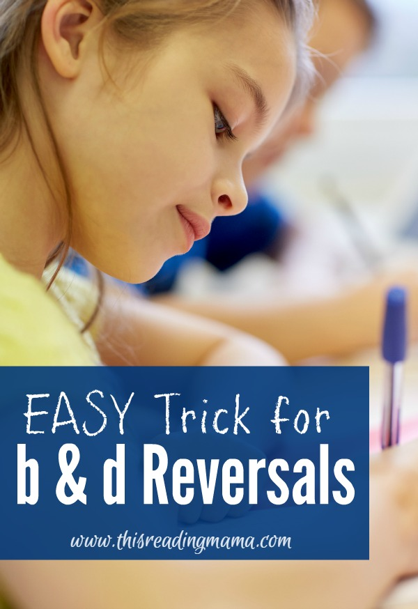 Easy Trick for B and D Reversals plus FREE printable poster | This Reading Mama