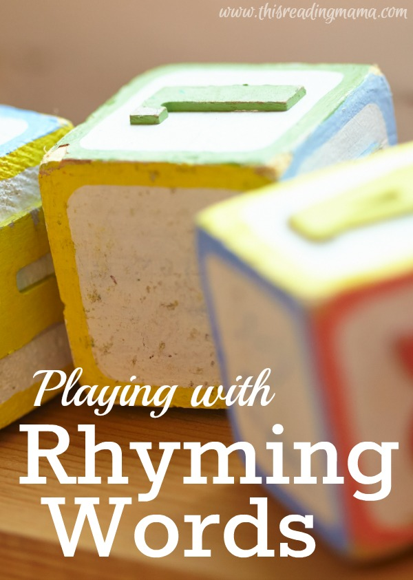 Playing with Rhyming Words | This Reading Mama