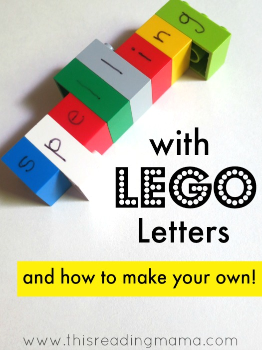 Spelling With Lego Letters And How To Make Your Own