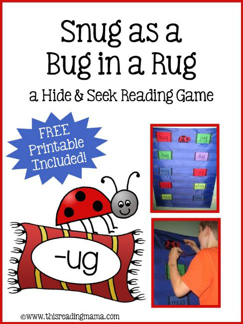 Snug as a Bug in a Rug Activity - a Hide and Seek Reading Game {FREE}  This Reading Mama
