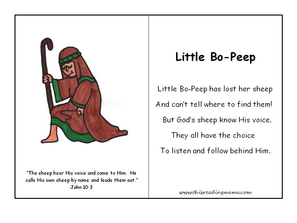 Christian Nursery Rhyme Example This Reading Mama