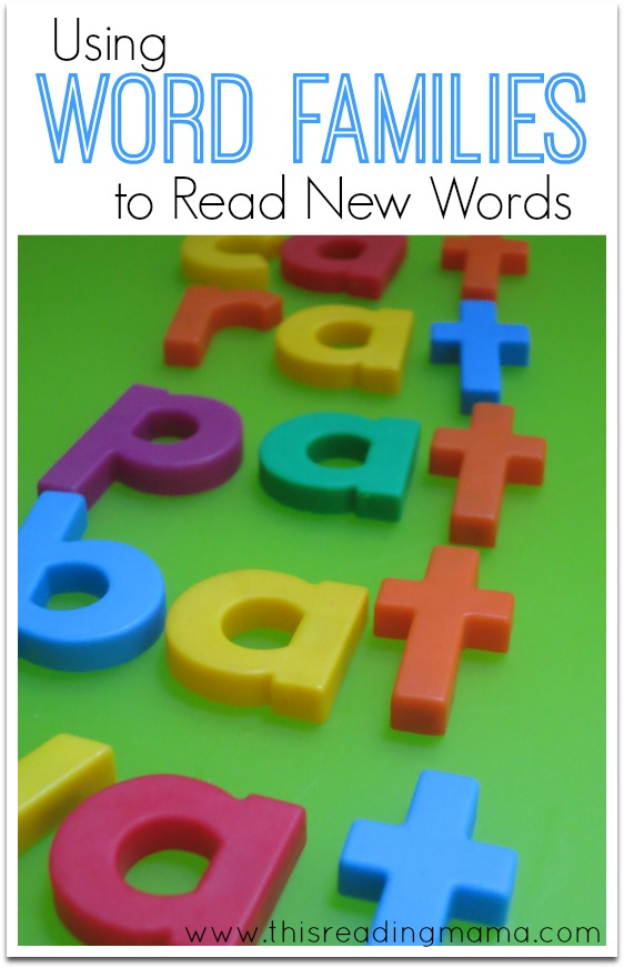 Using Word Families to Read New Words - This Reading Mama