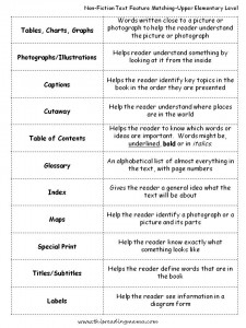 Nonfiction Text Features Checklist | Worksheet | Education.com