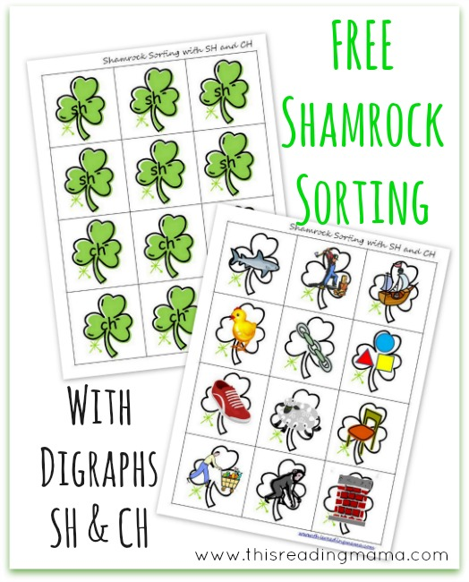 FREE Shamrock Sorting with Digraphs SH and CH