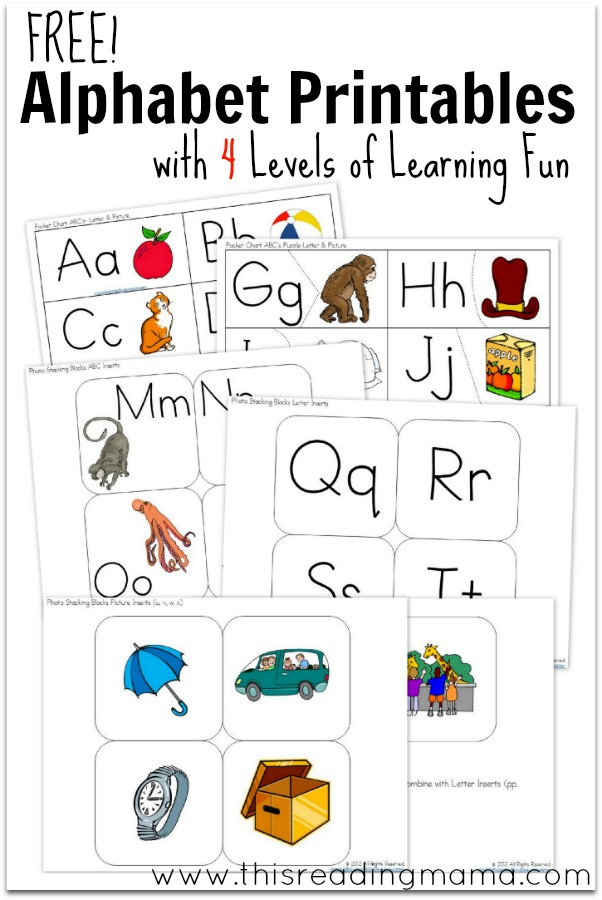 FREE Alphabet Printable for the Pocket Chart