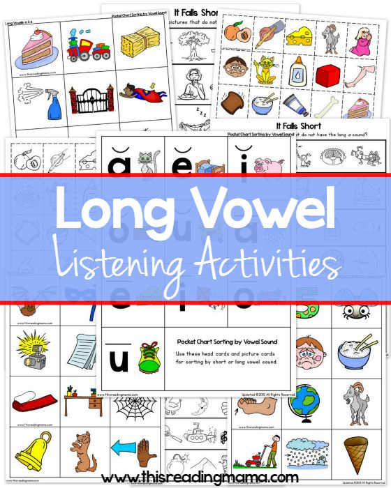 Cut and Paste Phonics Book 3: Long Vowel Sounds | Ready-Ed ...