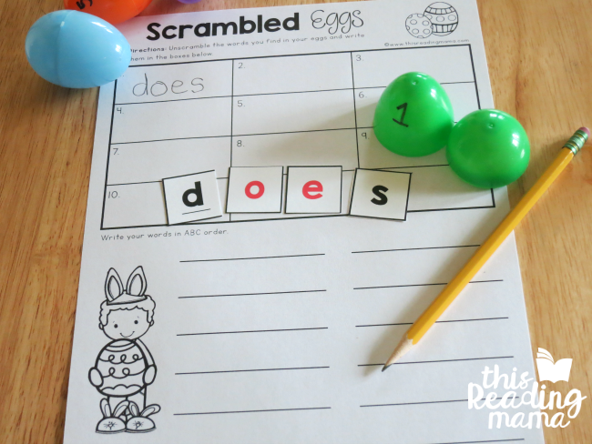 image regarding Free Printable Sight Word Games identified as Scrambled Eggs: Sight Term Egg Hunt - This Examining Mama