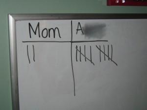 tally marks, keep score