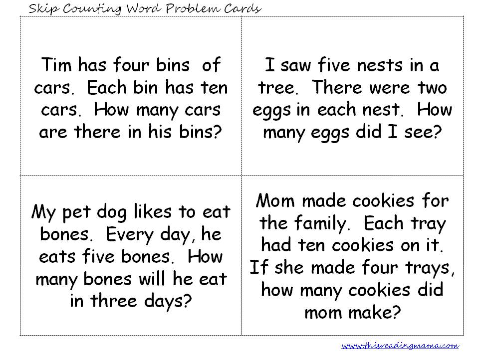 Skip Counting Word Problems - This Reading Mama