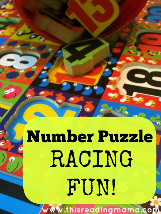 number puzzle racing fun - This Reading Mama