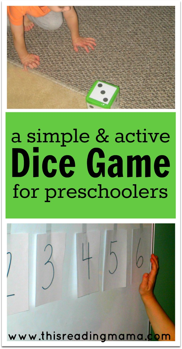 A Simple and Active Dice Game for Preschoolers - This Reading Mama