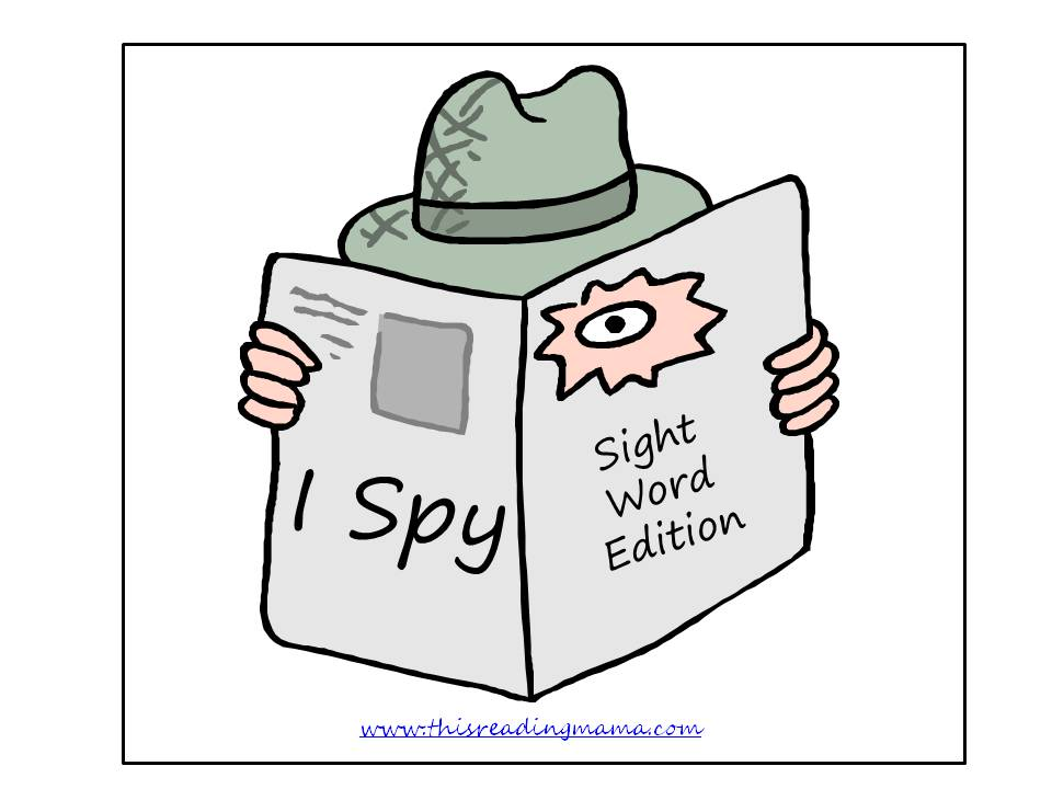 I Spy, sight word games