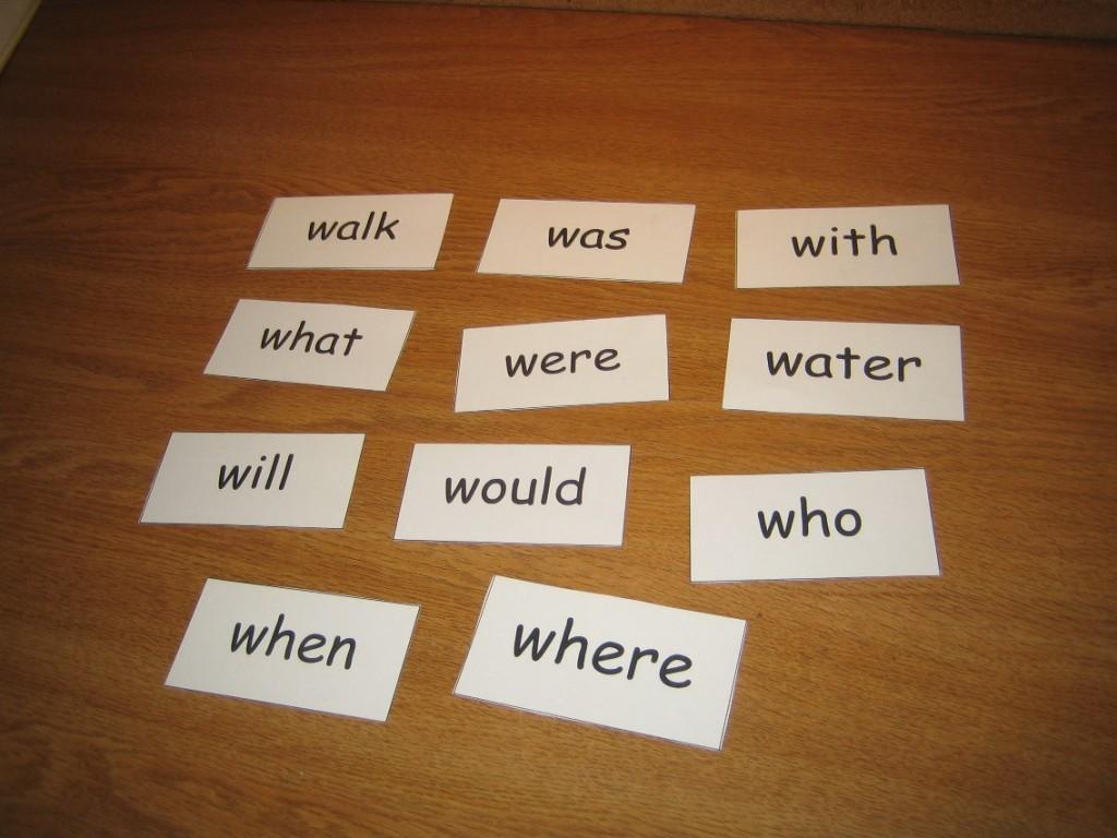 visually similar sight words