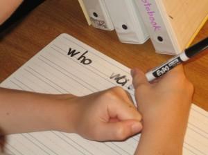 writing visually similar sight words