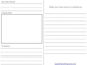 New Vocabulary Worksheet