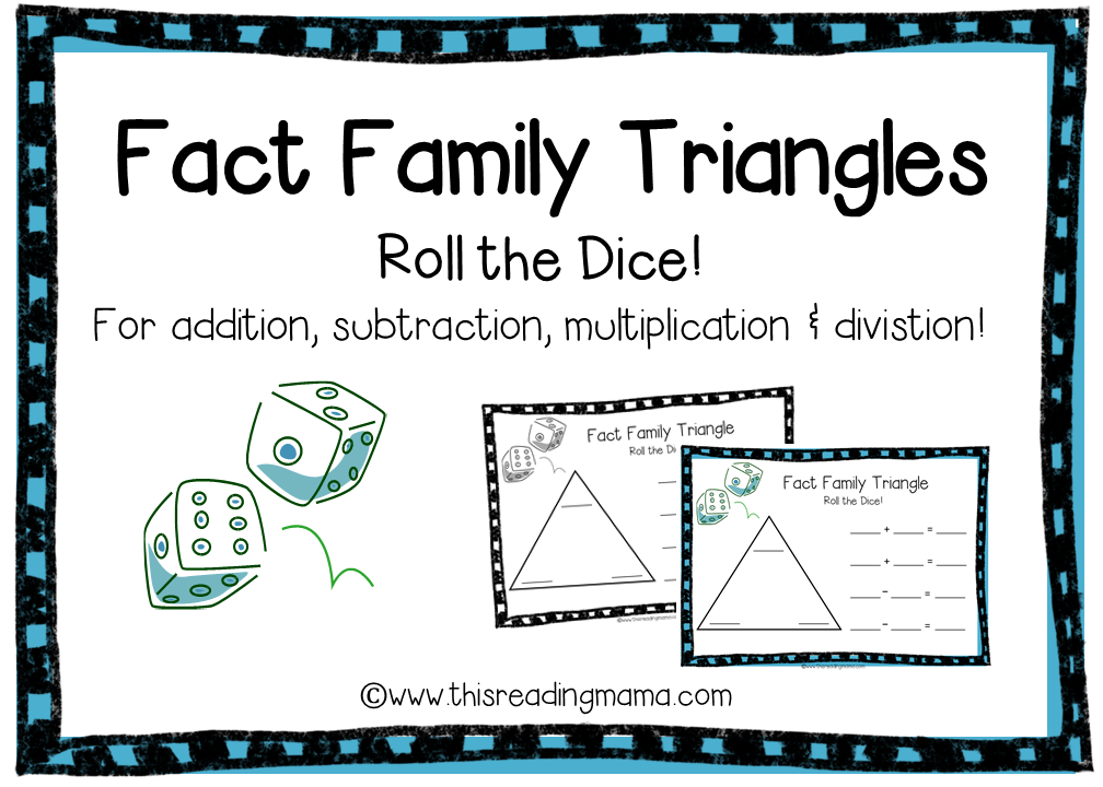 FREE Fact Family Triangle Game Boards for Addition, Subtraction, Multiplication and Division | This Reading Mama