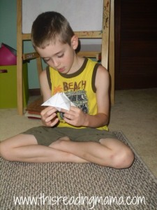 Spelling sight words with cootie catcher