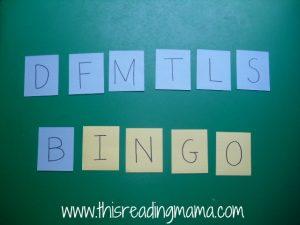songs, phonemic awareness, BINGO