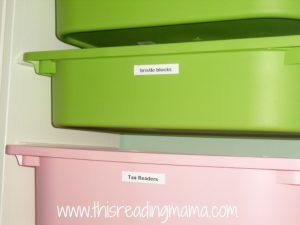 up close Trofast shelves for schoolroom