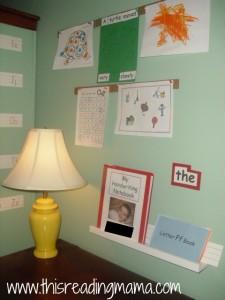 3 year old's desk in schoolroom
