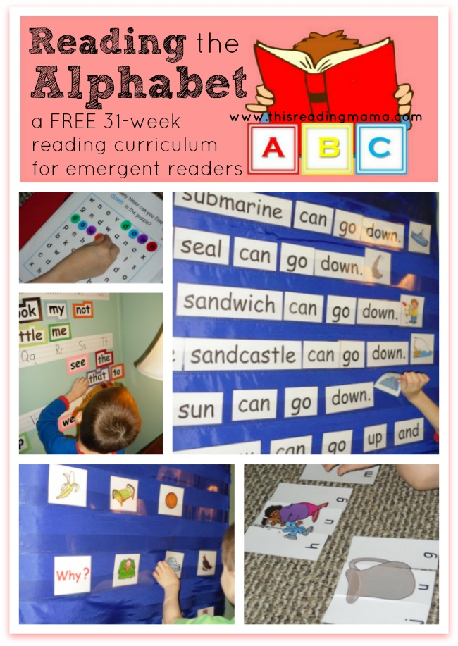 Reading the Alphabet - a FREE 31-week reading curriculum for emergent readers