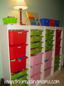 TROFAST storage unit for schoolroom