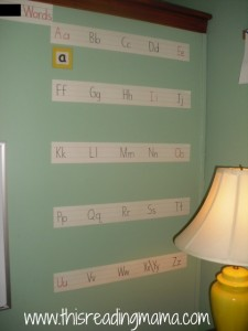 Word Wall with sentence strips