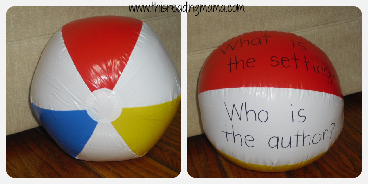 beach ball with story elements