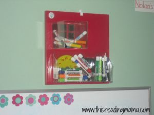 container for dry erase markers