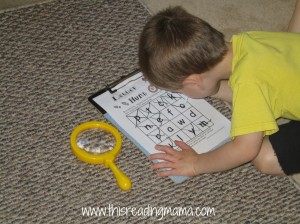 letter hunts for preschoolers