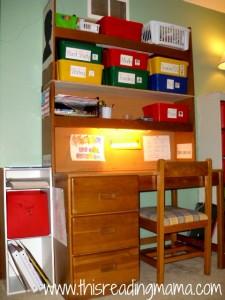homeschool desk for 1st grader