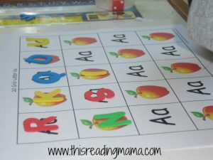 20 Grid Game with Letter A