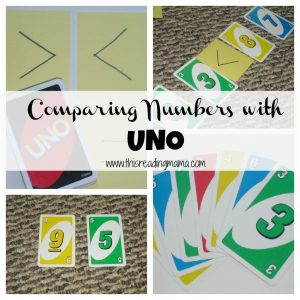 Comparing Numbers with Uno {This Reading Mama}