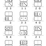 Double Digit Domino Subtraction Printable