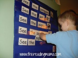 building sentences in pocket chart