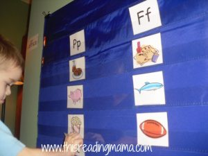 picture sorting initial P and F