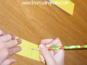 writing numbers on countdown chain