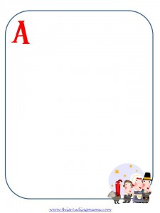ABCs of Thanksgiving Preschool Page