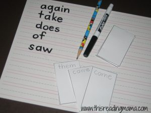 Go Fish with Sight Words