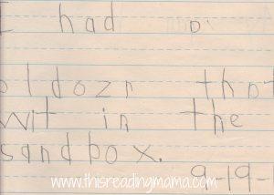 Late Letter Name-Alphabetic Speller Example