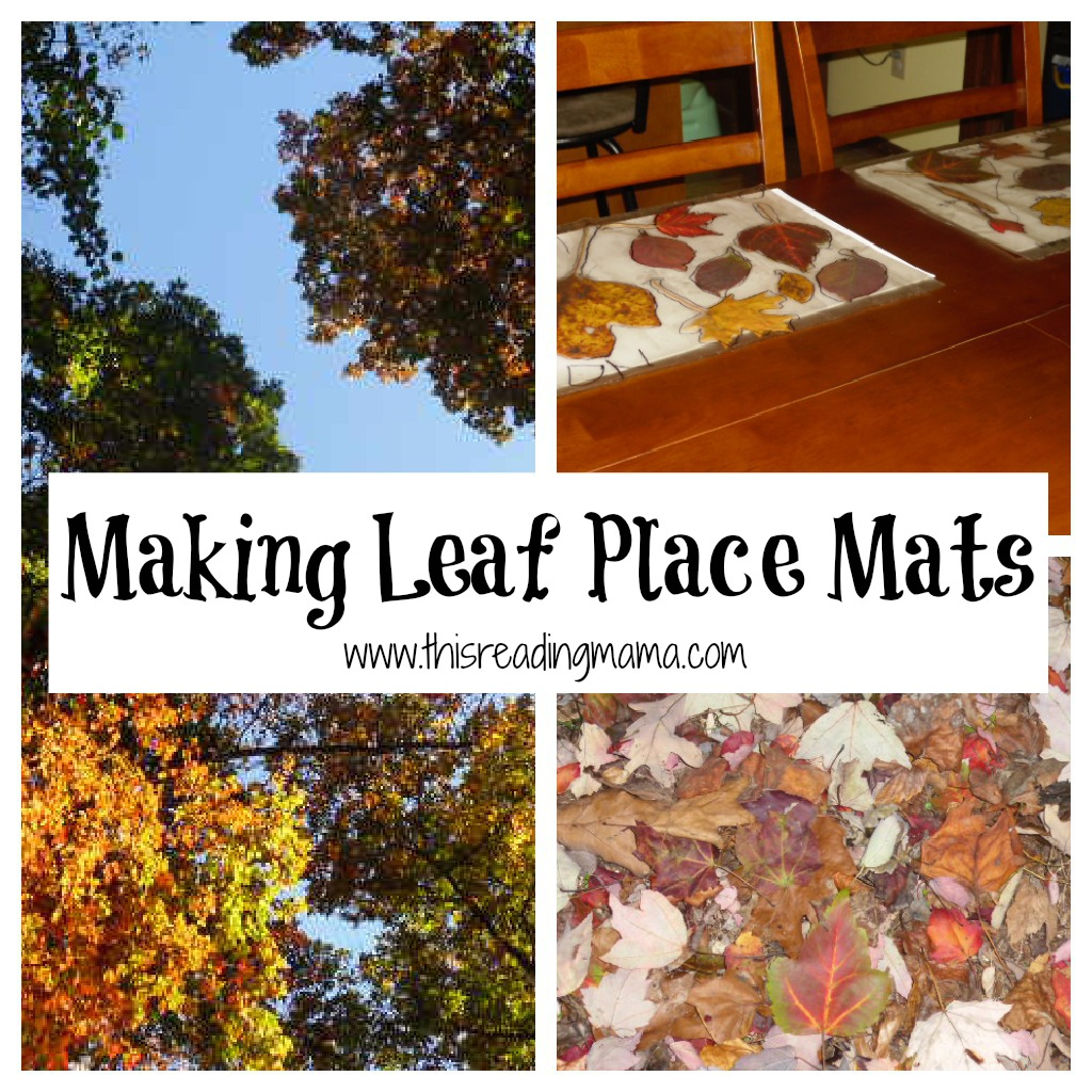Making Leaf Place Mats | This Reading Mama