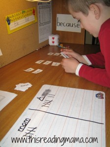 Sort-Say-Score word study game