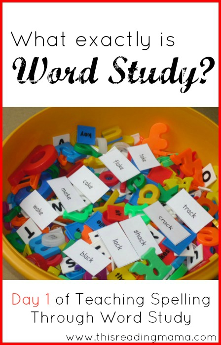 What Exactly is Word Study? | This Reading Mama