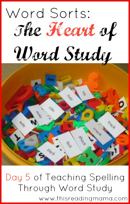 Word Sorts: The Heart of Word Study | This Reading Mama