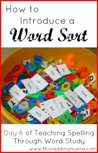 Daily Routines with Word Sorts