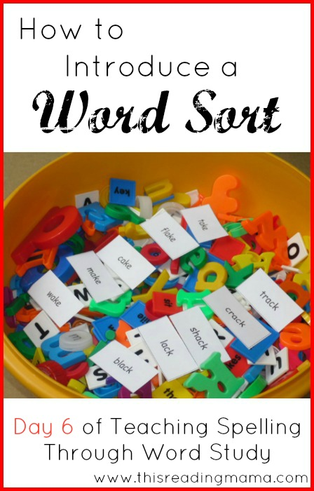 How to Introduce a Word Sort | This Reading Mama
