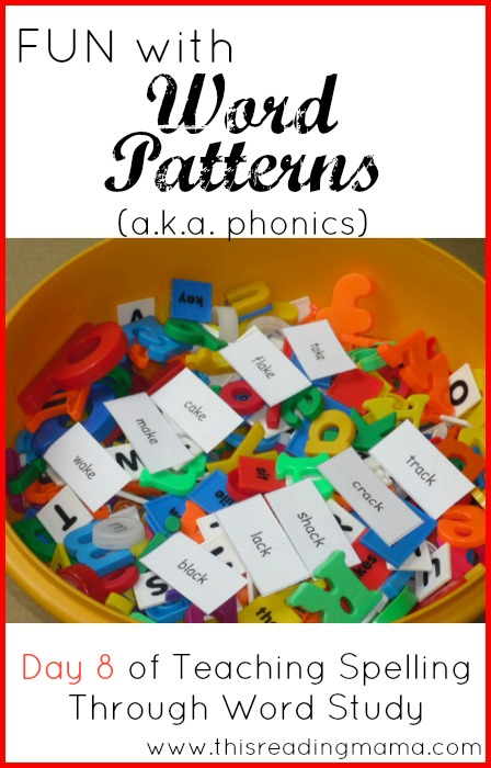 Fun with Word Patterns (Phonics) | This Reading Mama