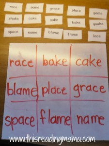 Word Wac Woe Game with word sort