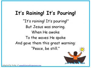 Photo of Its Raining Its Pouring Christian Nursery Rhyme